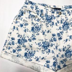 Vintage High Waisted Floral High Waisted Jeans